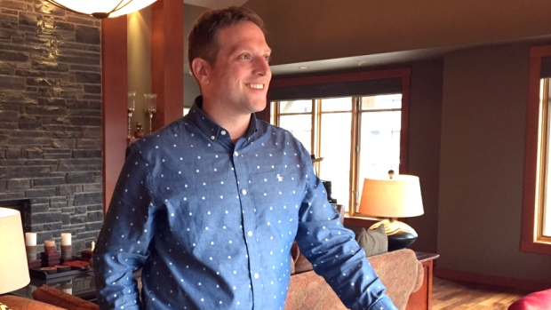 Christopher Vincent of Sotheby's Realty Canmore. (Stephanie Wiebe:CBC)