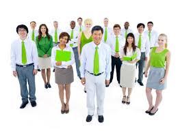 Green staff