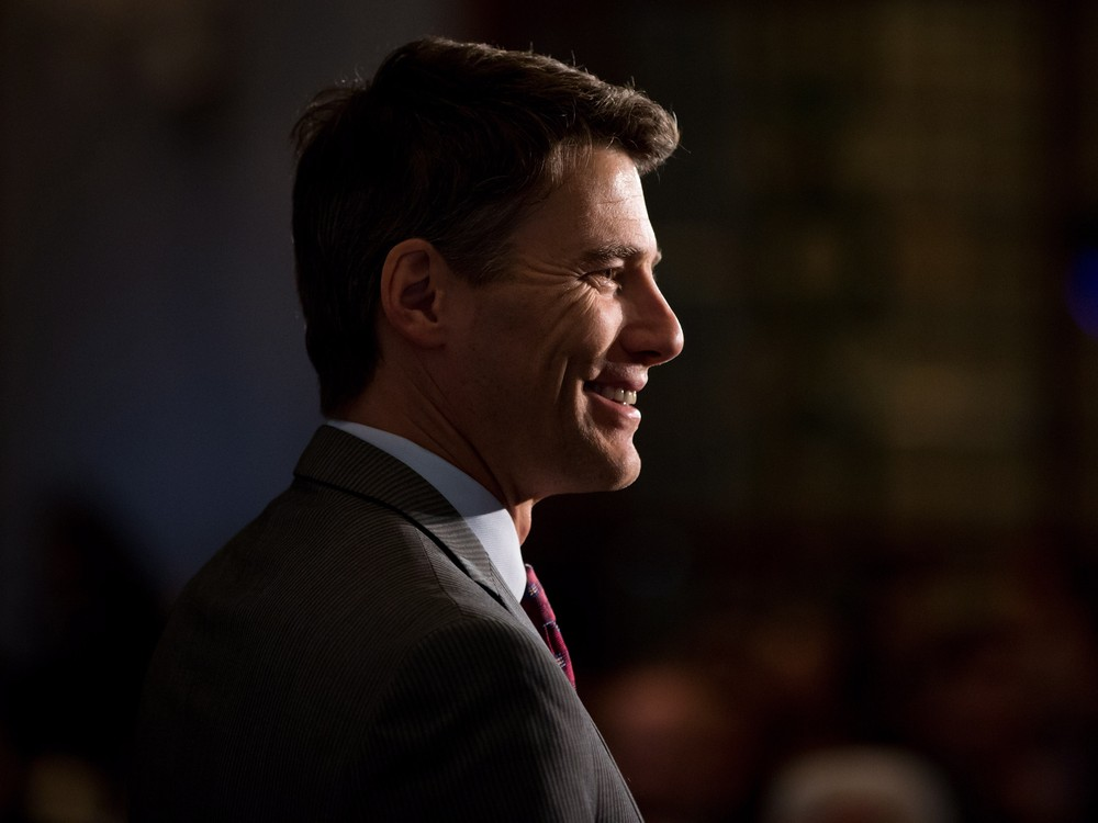 Vancouver Mayor Gregor Robertson is introduced prior to federal Finance Minister Bill Morneau's address at a Vancouver Board of Trade luncheon in Vancouver, B.C., on Wednesday April 27, 2016. THE CANADIAN PRESS/Darryl Dyck ORG XMIT: VCRD117