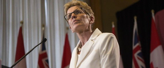 Ontario Premier Kathleen Wynne briefs the media following the Throne Speech at Queens Park in Toronto on Thursday, July 3, 2014. THE CANADIAN PRESS/Chris Young