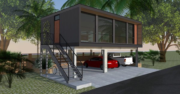 housing firm and shipping company make headway with shipping container homes