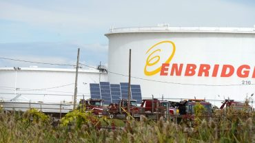 Storage tanks belonging to Enbridge in Sarnia, Ontario, a gateway to Enbridge pipelines to the Alberta Oilsands. The Canadian Press Images/Stephen C. Host