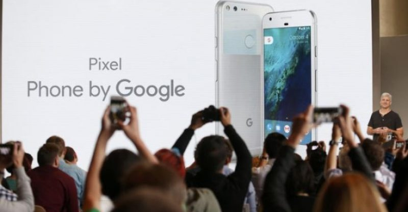 Google, introduces the Pixel Phone by Google during the presentation of new Google hardware in San Francisco