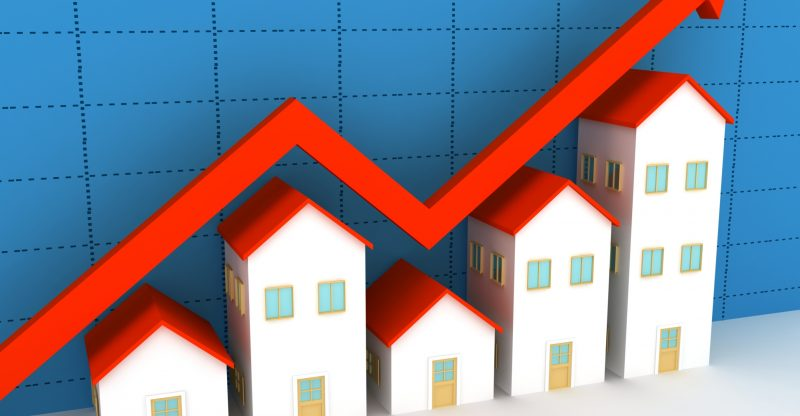 House prices on the increase