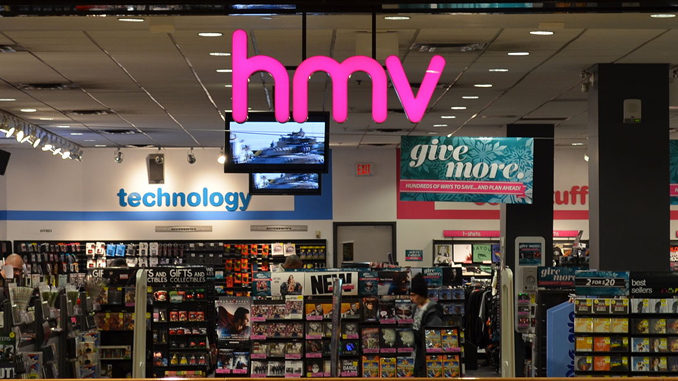 How do you find company information on HMV Canada?