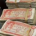 money inside tv