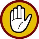 Stop-hand-caution